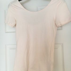 Light Pink Fitted BP crop tee